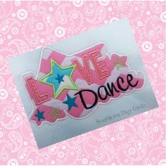Love to Dance from Applique Forum