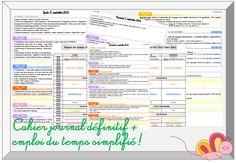 Pour la rentrée : nouveau cahier journal + emploi du temps - Christall'Ecole