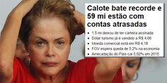 A inadimplência em janeiro/2016atingiu 59 milhões de brasileiros. É maior resultado desde 2012, quando a Serasa Experian passou a fazer o levantamento. O total da dívida é de R$ 255 bilhões Emjan…