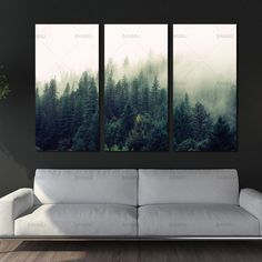Living Room Paint On Canvas - Picture landscape canvas painting Wall art the forest posters and prints home decoration painting art print on canvas no frame. Framed Wall Art, Wall Art Decor, Canvas Wall Art, Wall Art Prints, Canvas Prints, Canvas Painting Landscape, Landscape Walls, Painting Art, Painting Walls