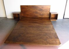 Simple Stained Baltic Birch Plywood Bed Frame