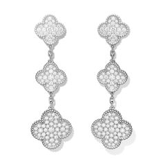Van Cleef & Arpels - Van Cleef & Arpels - Magic Alhambra earclips, 3 motifs