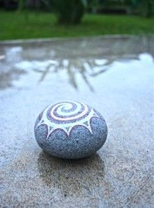 "Another favourite stone from my 365 rock a day project 2011. This stone is called ""Change"", head over to my website to read it's story :)"