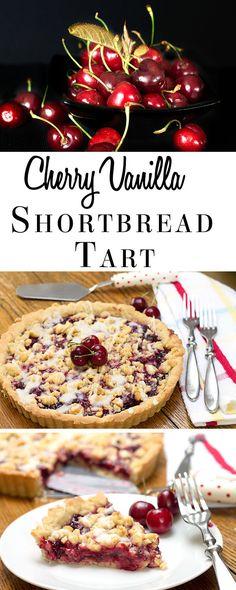 Cherry Vanilla Shortbread Tart #dan330 http://livedan330.com/2015/06/05/cherry-vanilla-shortbread-tart/