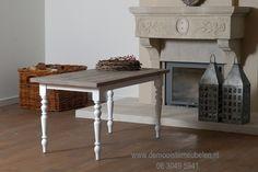 Brocante oud grenen tafel 220 cm x 100 cm