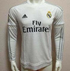 Real Madrid Long Sleeve Junior Boys Kids Home Football Shirt/Top Real Madrid Soccer, Football Shirts, Kids House, Long Sleeve Tops, Graphic Sweatshirt, Top View, Sweatshirts, Boys, Mens Tops