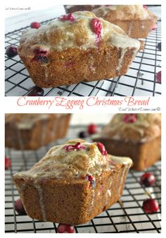 Eggnog Anyone! My Cranberry Eggnog Christmas Bread brings you all the flavors of the season in a wonderful little bread! Christmas Bread, Christmas Dishes, Christmas Baking, Christmas Holiday, Christmas Foods, Christmas Breakfast, Holiday Foods, Winter Holiday, Xmas