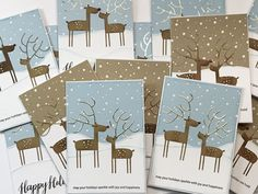 LillBlomman skapar: :: Christmas Cards For All The Teachers 2017 :: Die Cut Christmas Cards, Merry Christmas Wishes, Xmas Cards, Holiday Cards, Christmas 2019, Greeting Cards, Mft Stamps, Animal Cards, Christmas Animals