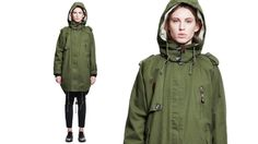 5 Preview Parka Verde Militare - VOLPI DONNA LUXURY SHOPPING WOMEN'S CLOTHING, SHOES AND ACCESSORIES