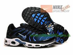 Nike Air Max Tn Requin/Tuned 2015 Chaussures Nike Officiel Pour Homme Noir/Bleu