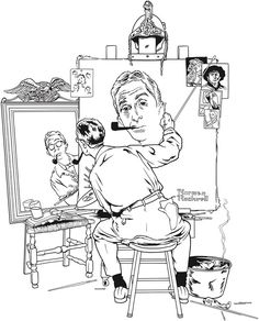 norman rockwell coloring pages - photo#14