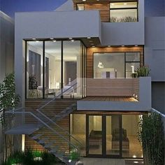 architecture design Haus - Home Design Ideas Beautiful Home Designs, Beautiful Homes, Architecture Design, Architecture Interiors, Minimalist Architecture, Casas Containers, Facade House, Modern House Design, Wood House Design