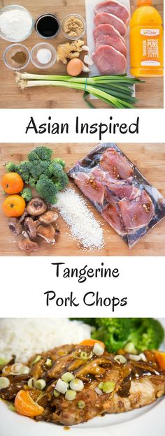 Make your week night meals into an occasion with my Asian Inspired Tangerine Pork Chop Recipe.