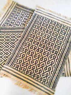 LICORICE BLACK Rug Limited Edition Dari Rugs by DaintyRedBird