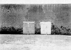 Título:  Paredón de fusilamiento en la cárcel de Belem Tema:  ARQUITECTURA CIVIl Lugar de asunto:  México, D.F. Fecha de asunto:  ca 920