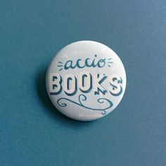 A pin for any bookworm and Harry Potter fan! This pinback button measures 1.5, and is handmade by me. *product may cause flight of nearby books. Wear