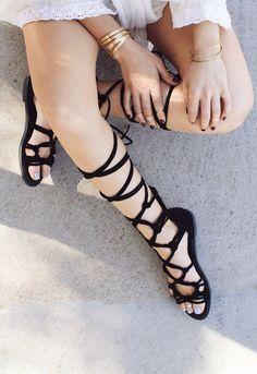 Ale Gladiator Sandals - Black – Shop Priceless