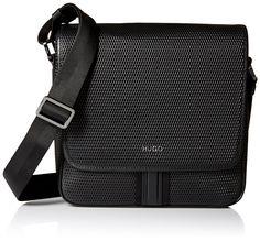 HUGO Hugo Boss Men's Future Flap Reporter Bag, Black