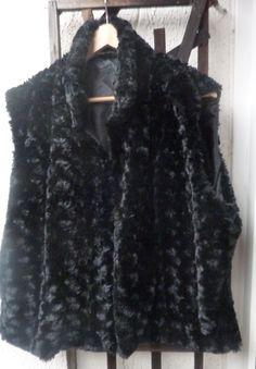1990s Faux Fur Body Warmer Gilet Waistcoat by Shadeofstylevintage, £17.99