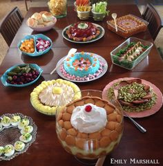 1960s potluck table