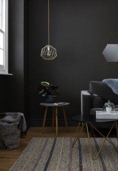 Home Decoration For Living Room Referral: 4085641334 Living Room Paint, Living Room Grey, Living Room Modern, Living Room Designs, Living Room Decor, Living Rooms, Living Spaces, Dark Grey Rooms, Room Colors