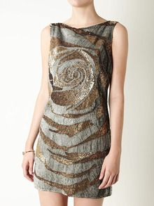 Valentino swirl silk dress
