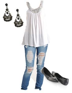 Cute Outfits with Skinny Jeans | Something like this:
