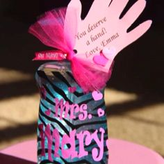 Valentine's craft idea - personalized handsanitizer with cute card!