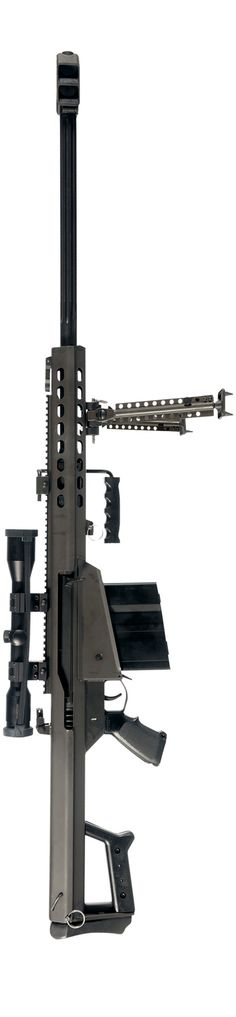"Barrett M82 A1 ""Light Fifty"" 50 Caliber semi-automatic anti-material rifle with 10 round detachable box magazine. Range 1800 meters."