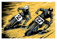 Art of Drive: An Interview With Designer And Illustrator Ryan Quickfall — Fuel Tank Motorcycle Posters, Motorcycle Types, Motorcycle Art, Bike Art, Carros Lamborghini, Rockabilly Art, Garage Art, Drawing Projects, Vintage Motorcycles