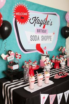 A Retro Soda Shoppe Birthday Party - Anders Ruff Custom Designs, LLC