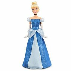 """Disney Classic Cinderella Doll 12"""" by Disney. $20.63. Poseable arms and legs. Includes pretend glass slippers, gloves and satin hair band. Deluxe costume features glitter blue gown with contrasting light blue satin panel and organza accents at waist and shoulders. Pair it with our 12'' Cinderella Classic Prince Charming Doll, sold separatelyCoordinates with Princess Cinderella Classic Doll Collection Accessory Set, sold separatelyPart of the Disney Princess Classic..."""