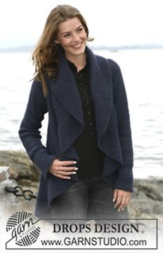 """Ravelry: 102-6 Circular jacket in """"Silke-Alpaca"""" with texture pattern pattern by DROPS design"""