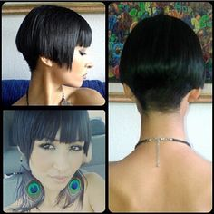please always go with gothic classic hair cuts has they are classic for a reason! because there fu*k HOTTY+ Cleo cut - Short swing bob