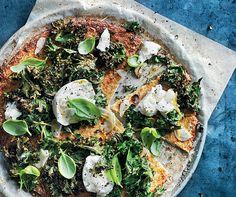 Cauliflower Pizza With Mozzarella, Kale & Lemon | Recipe by Donna Hay