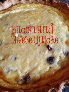 Turnips 2 Tangerines: Bacon and Cheese Quiche