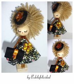 Brooch  jewelry doll