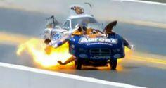 Drag racing driver Matt Hagan walks away unhurt from 260mph fireball      Read more: http://www.metro.co.uk/news/896670-drag-racing-driver-walks-away-unhurt-from-260mph-fireball#ixzz1sWYc8VVm
