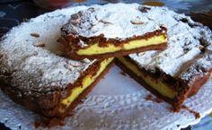 Il mio angolo nel mondo.: Torta della nonna al cacao con crema pasticcera.