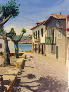 """""""Puerto Viejo"""". Óleo sobre tela de Tomás Garcés"""