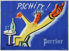 eau minérale - Perrier - 1950 - illustration de Jean Carlu -