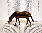 Brass Bronze Bambi Deer - Fawn Statue - Office Decor