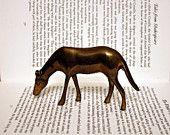 Brass Bronze Bambi Deer - Fawn Statue - Office Decor