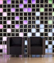 Using colored and frosted glass blocks can add a unique style and freshness to your design. At Innovate Building Solutions, we offer 104 standard and frosted colors for any window, wall or shower project. Bathroom Glass Wall, Cleveland Ohio, Glass Blocks, Frosted Glass, Tile, Shower, Weddings, Building, Color