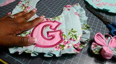 Fabric Flower Tutorial For In The Hoop Bib