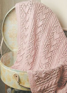 Heirloom Hearts Baby Blanket in knit One Crochet Too Cozette - 1986