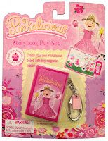 "Create your own Pinkalicious scene with tiny magnetic pieces! Open the story book keychain to find a pretty background from Pinkalicious. Pull out the drawer and use the pieces to recreate some your favorite scenes from the book. Available in-store at Toys ""R"" Us."