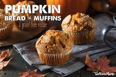 These healthy and grain free pumpkin bread muffins. REID approved, if u choose cinnamon and honey options :) thanks Renee Knight (healthy pumpkin muffins coconut oil) Pumpkin Muffin Recipes, Pumpkin Spice Muffins, Cinnamon Muffins, Apple Cinnamon, Pumpkin Butter, Pumpkin Bread, Coconut Recipes, Real Food Recipes, Easy Recipes