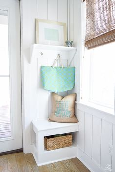 beach house decor small mud room in beach house design coastal cottage design life is better in flipflops pillow-1