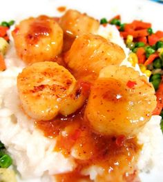 Sweet Chili Scallops - a deliciously sweet & spicy #seafood dinner :) #healthy #recipe